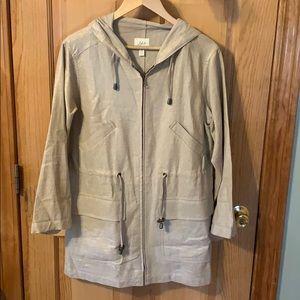 J.Jill light weight hooded utility jacket